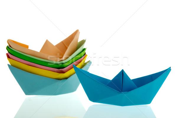 Paper boats Stock photo © ivonnewierink