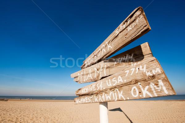 Távolság Amerika holland tengerpart tenger utazás Stock fotó © ivonnewierink