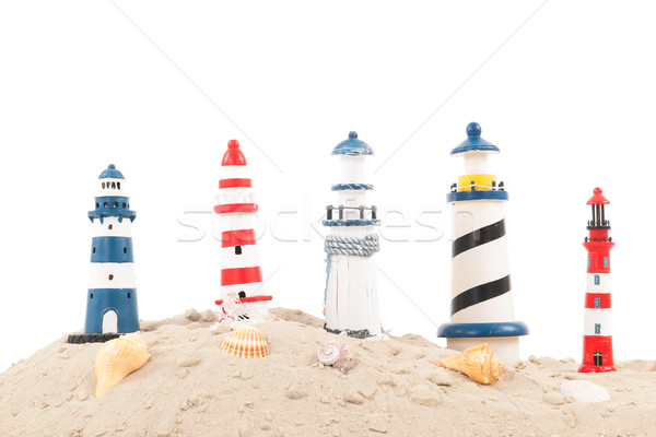 lighthouses at the beach Stock photo © ivonnewierink