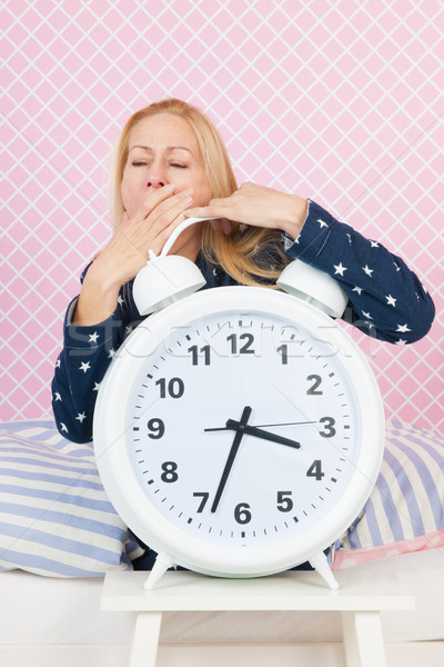 Mature woman with insomnia Stock photo © ivonnewierink