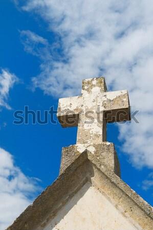 Főfogás temető öreg francia törött Stock fotó © ivonnewierink