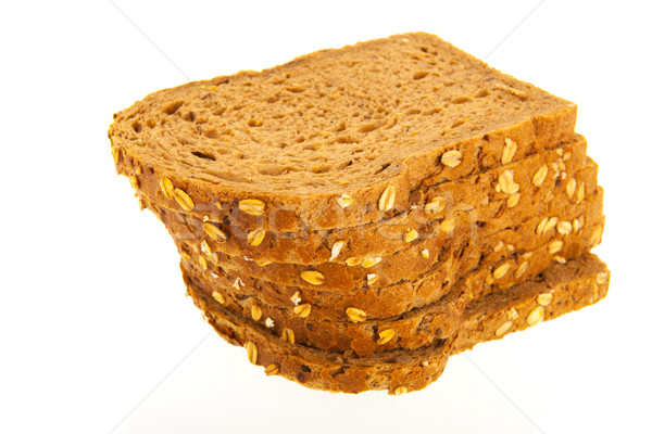 Wholemeal slices of bread Stock photo © ivonnewierink