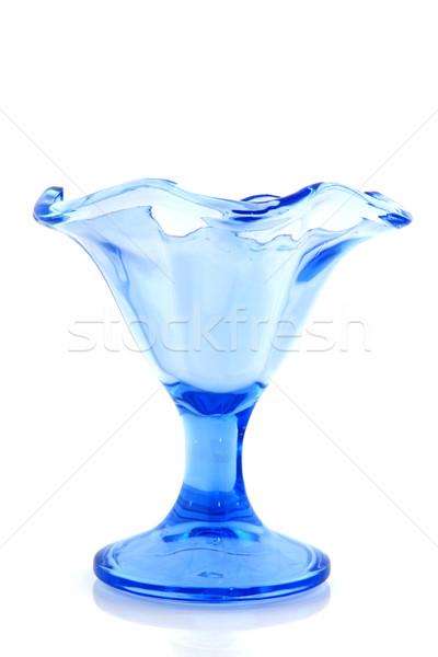 Blue ice glass cup Stock photo © ivonnewierink