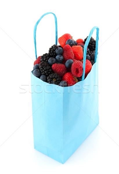 Stockfoto: Diversiteit · vers · fruit · vers · bos · vruchten · Blauw
