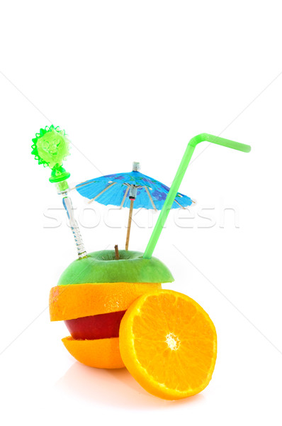 Tropical fruit with parasol Stock photo © ivonnewierink