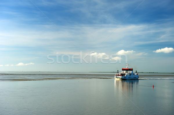 Ferry boat in the Dutch wadden sea Stock photo © ivonnewierink