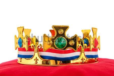 Or couronne velours oreiller pavillon Photo stock © ivonnewierink
