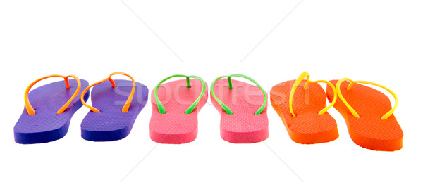 Colorful flip flops Stock photo © ivonnewierink
