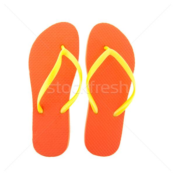 Orange flipflops Stock photo © ivonnewierink