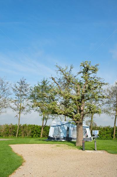 Campground with caravan  Stock photo © ivonnewierink