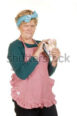 House wife with earned money Stock photo © ivonnewierink