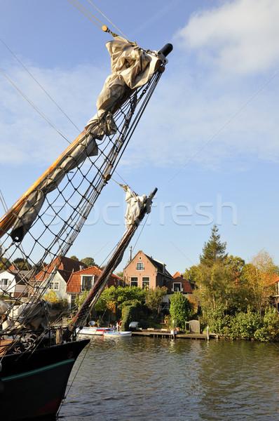 Old fishermans boat Stock photo © ivonnewierink