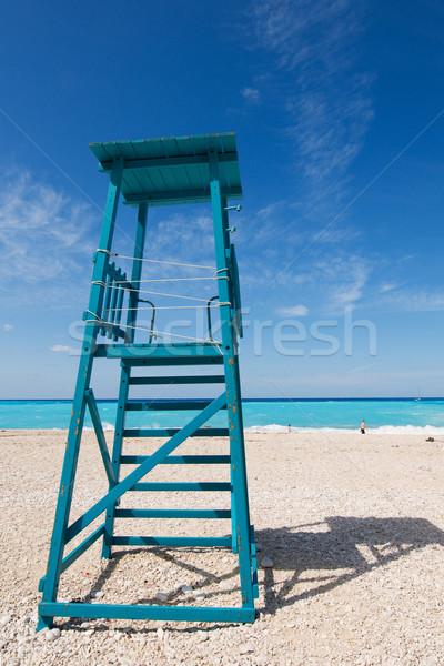 Empty wooden chair Stock photo © ivonnewierink