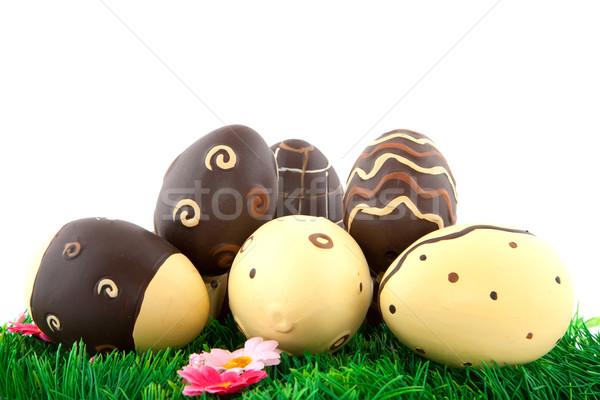 chocolate easter eggs Stock photo © ivonnewierink