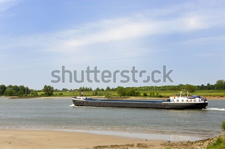 River the Lek with big boat Stock photo © ivonnewierink