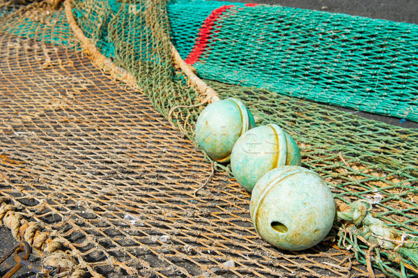 Corks and fishing nets Stock photo © ivonnewierink