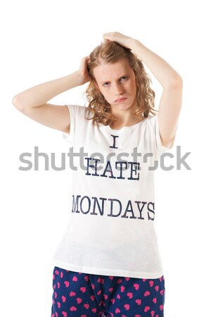 Nienawiści młoda kobieta kobieta tle portret młodych Zdjęcia stock © ivonnewierink