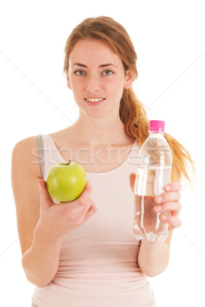 Fruit and water after work out Stock photo © ivonnewierink