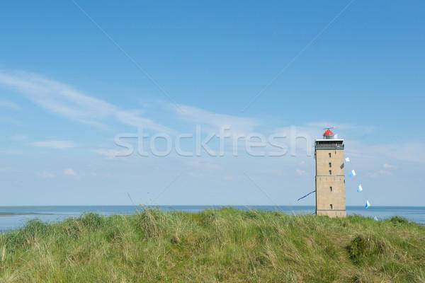 Farol paisagem costa holandês edifício mar Foto stock © ivonnewierink