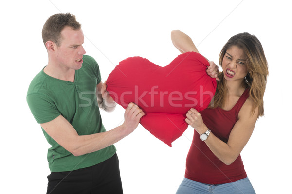 Couple fighting for love Stock photo © ivonnewierink