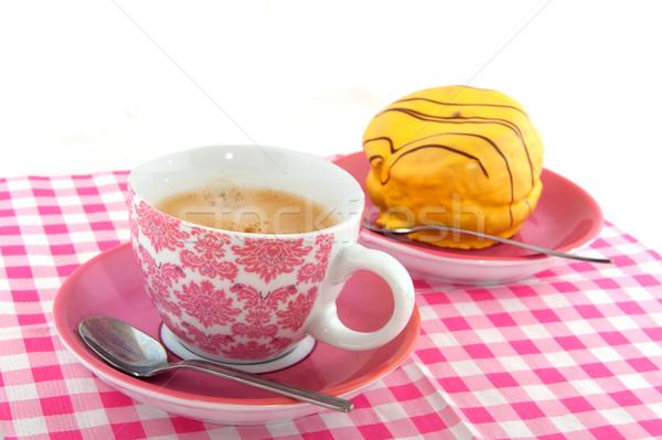 Coffee with yellow cakes Stock photo © ivonnewierink