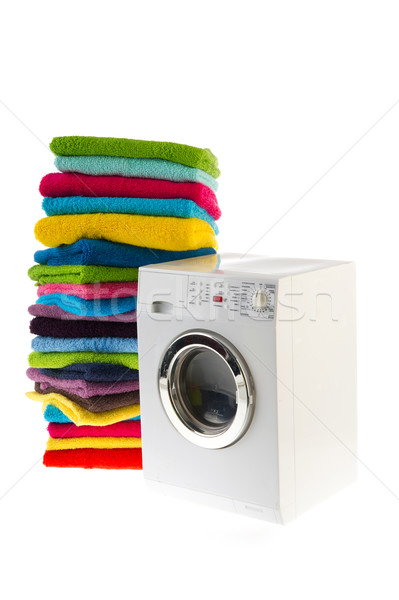 Laundromat with laundry Stock photo © ivonnewierink