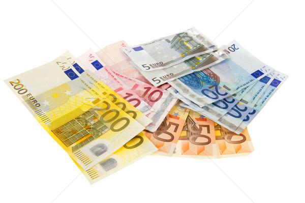 Stockfoto: Euro · euro · bankbiljetten · twee · honderd · geïsoleerd