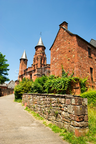 Castle in Collonges la rouge Stock photo © ivonnewierink