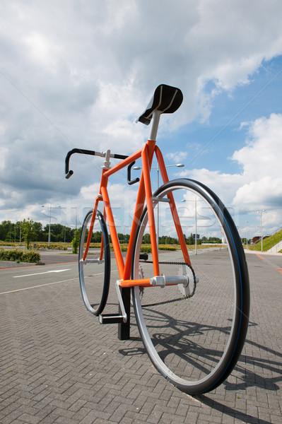 Big bike at the street Stock photo © ivonnewierink
