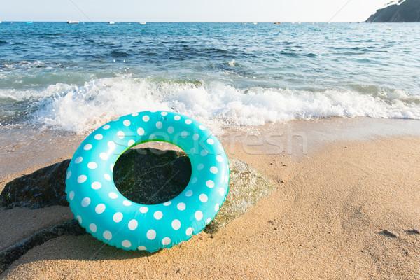 Espanol playa paisaje inflable juguetes agua Foto stock © ivonnewierink
