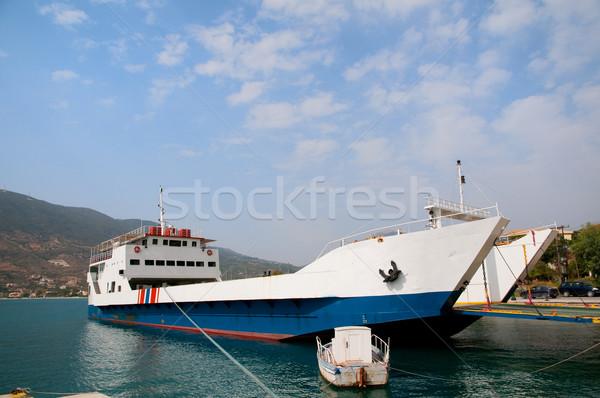 Grieks pont boot eiland Stockfoto © ivonnewierink