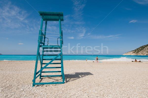 Boş sandalye hayat bekçi mavi deniz Stok fotoğraf © ivonnewierink