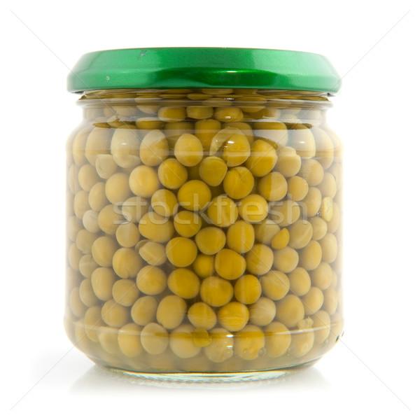 canned green peas Stock photo © ivonnewierink