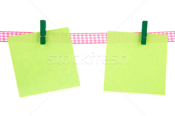 Green memo papers Stock photo © ivonnewierink