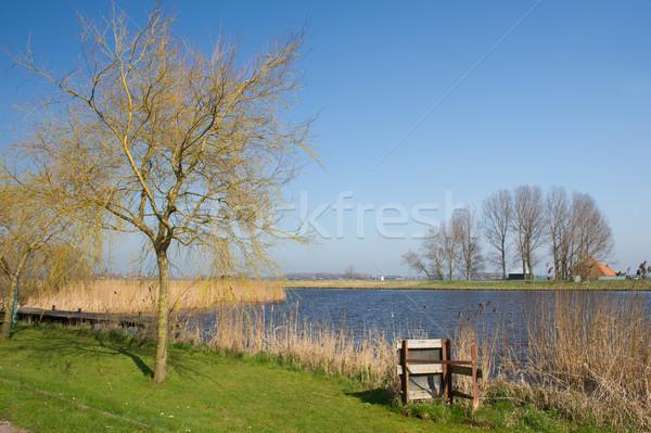 Dutch landscape on island Stock photo © ivonnewierink