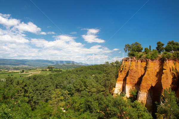 Landscape with ochre in France Stock photo © ivonnewierink
