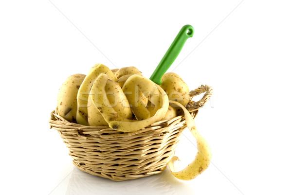 Schil mand mes shell landbouw Stockfoto © ivonnewierink