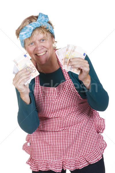 Housewife with money Stock photo © ivonnewierink
