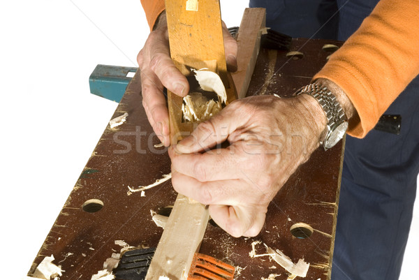 slicing the wood Stock photo © ivonnewierink