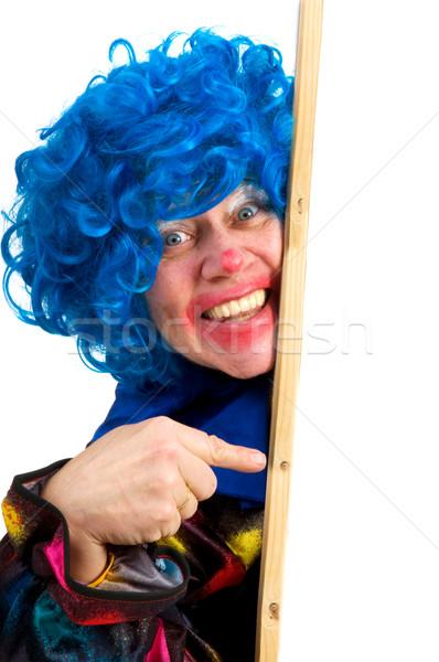 Indicação palhaço memorando conselho texto cabelo Foto stock © ivonnewierink