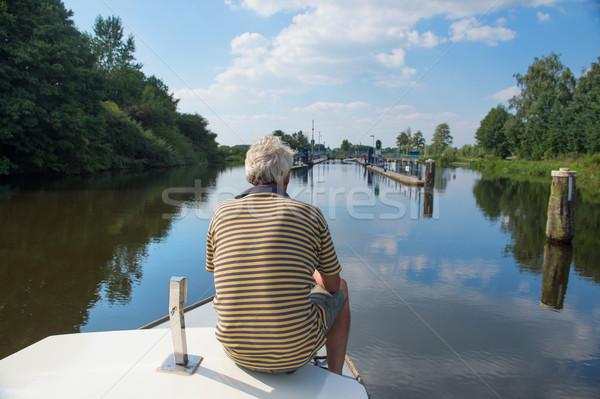 Man on boat Stock photo © ivonnewierink