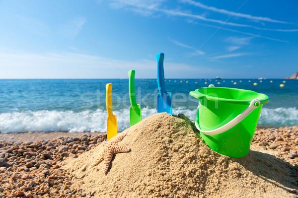 おもちゃ ビーチ 家族 休暇 砂 風景 ストックフォト © ivonnewierink