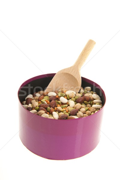 Mixed legumes with spoon Stock photo © ivonnewierink