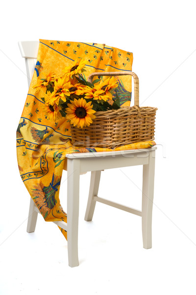 Romantic still life with sunflowers in the Provence Stock photo © ivonnewierink