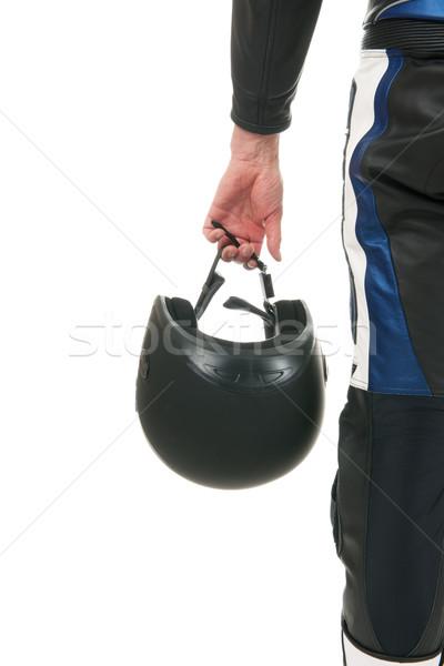 Motor detail zwarte helm achtergrond Stockfoto © ivonnewierink