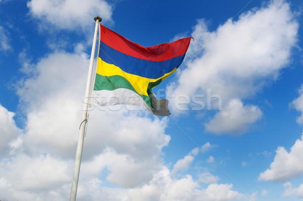 Bandera holandés colorido isla cielo azul Foto stock © ivonnewierink