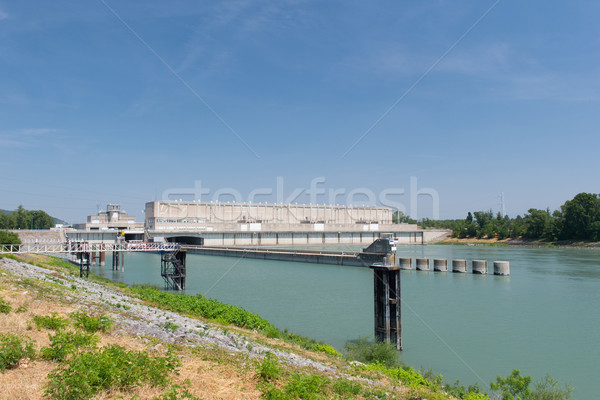 Weir in Rhone in France Stock photo © ivonnewierink