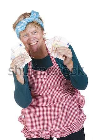 Happy house wife Stock photo © ivonnewierink