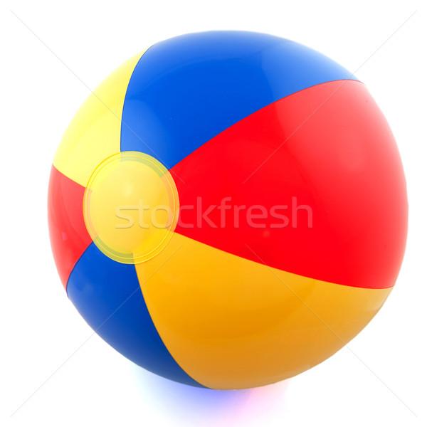 Beachball Kunststoff farbenreich Ball Strand Hintergrund Stock foto © ivonnewierink