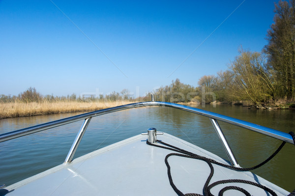 Boat in Dutch Biesbosch Stock photo © ivonnewierink